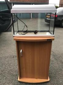 Fish tank with stand and light
