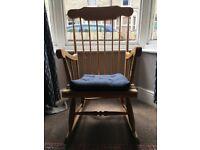 Pretty, comfy rocking chair