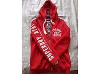 Superdry red hoodie-zipper