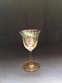 1 Small Vintage/Antique Amber Liquor Glass