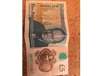 AK47 £5 Pound Note Genuine Pristine Condition