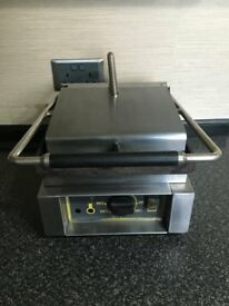 Roller grill panini machine commercial catering industrial contact griddle