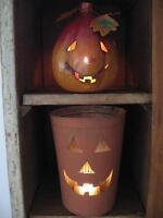 Décoration d'Halloween - seau en métal