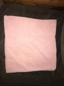 Square pink cushion cover