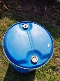 Large blue barrel