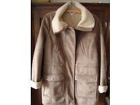 M&S Indigo Collection Sheepskin Coat