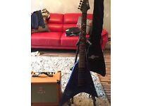 Orange Crush15 amp plus star shaped electric guitar