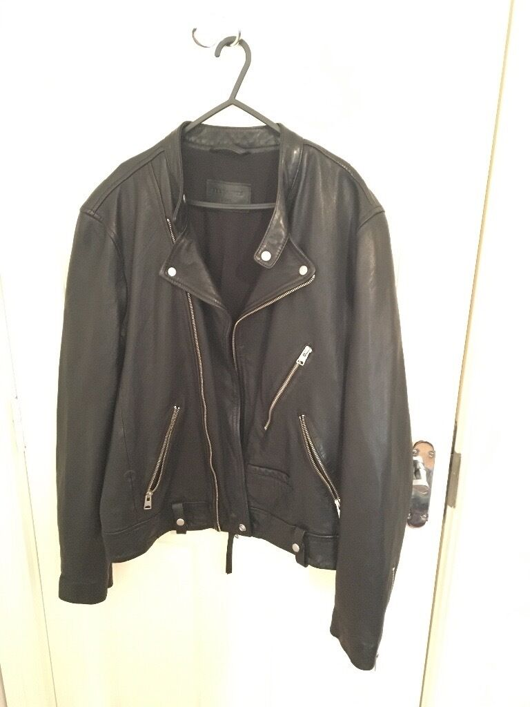 Mens Large ALL SAINTS leather jacket - unwanted gift - RRP £360