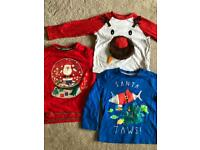 Baby toddler Christmas Santa shark reindeer clothes 1.5-2 years 18-24 months