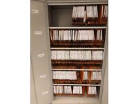Lockable Lateral Suspension Filing Cabinets complete with suspension files.