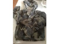 M & S lined Fleece Camouflage zip up hooded jacket age 6-7 - Good condition