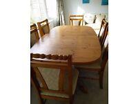 Solid pine Knightsbridge dining suite