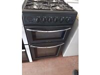 BELLING Black 50cm Gas Cooker - Double Oven **** EXCELLENT CONDITION ****