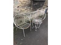 Vintage retro 2960's metal garden furniture