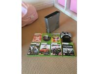 Xbox 360 console and games bundle with controller and 120GB hard drive