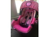 Disney Minnie Mouse group 0- plus car seat