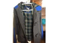 Lyle&Scott men's woollen coat size S . Only been worn twice but now too small . As new condition