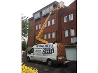 Man And Cherry Picker For Hire
