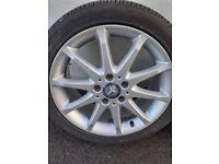 Mercedes alloy wheels & tyres