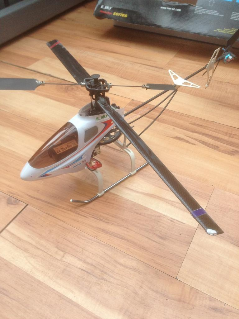 Esky honeybee cp-2 6 ch r/c helicopter boxed extras great gift!