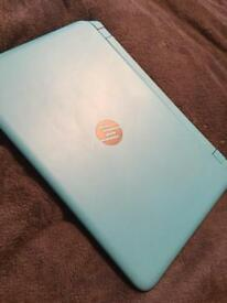 HP laptop sky blue