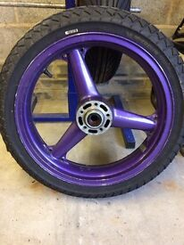 ZXR400 front wheel and tyre
