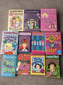 AGE 8-13 YEARS GIRLS BOOKS, JACQUELINE WILSON COLLECTION OF ELEVEN HARDBACKS AND PAPERBACKS