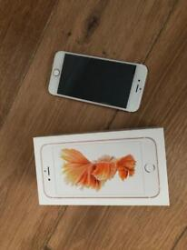 Rose Gold iPhone 6s 64gb with box and accessories
