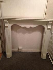 Wooden painted surround