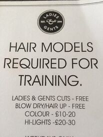 Hair models needed for Aveda salon Ward & Cross