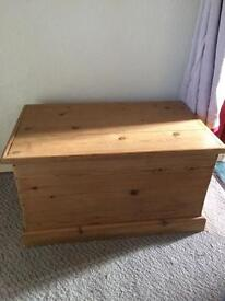 Solid pine chest. Large wooden toy box. Solid heavy trunk