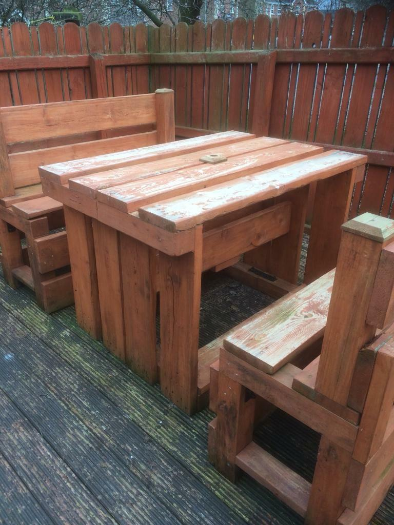 pallet furniture patio. Outdoor Pallet Furniture Patio Table \u0026 Chairs