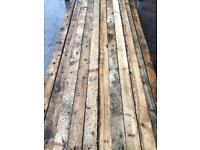 Reclaimed Timber, wooden planks, 3x3, 9ft long, timber