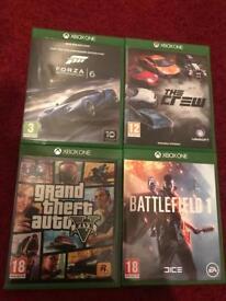 Forza 6, GTA V, The Crew, Battlefield 1 for Xbox One