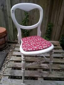 Vintage wooden balloon chair restored grey