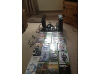 Hi here I have two Xbox 360s consoles three controllers and 22 games plus call of duty 1200 points