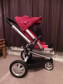 Quinny Buzz 2 in 1Travel System - Red / Black