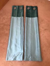 Next Teal Curtains - Pair