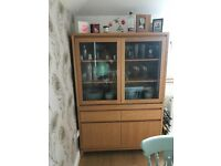 Barker and Stonehouse Solid Oak Display Cabinet