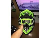 Kids helmet goggles and suit
