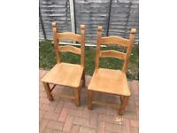 4 heavy large dining room chairs