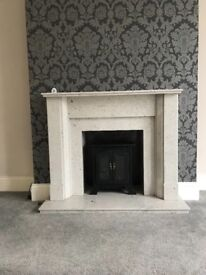 Marble Fireplace, Amazing Condition!