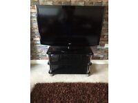 FREE Black glass tv stand