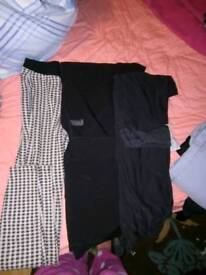 Leggings, work trousers and jeans