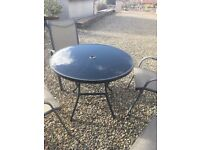 Garden/patio table and chairs set - excellent condition