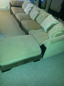 Excellent corner sofa plus footstool - adaptable high quality sofa - Can deliver too