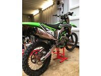 Kawasaki kxf450 nice bike plenty of extras!