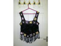 Women's topshop crochet vest top, size 12