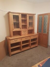 Dining set. Table, 6 chairs and full height dresser