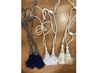 Variety of curtain tie backs in pairs